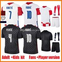 2021 Rakitic Mandzukic Futbol Formaları Hayranları Oyuncu Sürüm 20 21 22 Maillots De Ayak 2020-21 Modric Perisic Kovacic Erkekler Çocuk Kitleri Üniforma Futbol Gömlek