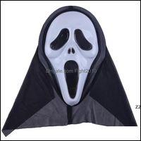 Festive Supplies Home & Garden14 Styles Skeleton Horror Mask Halloween Crack Skl Scream Masquerade Masks Adt Fl Face Retro Party Hwe9242 Dro