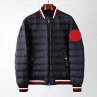 Франция Мужская пуховика пиджака письма моды monclair логотип вязаные женщины Parkas панель повседневные пальто бомбардировщики роскошные куртки дизайнеры мужская одежда M-3XL 001