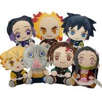 Мультфильм демон слайер плюшевые игрушки Kawaii Tanjirou Agatsuma Zenitsu Kamado Nezuko Фаршированные куклы