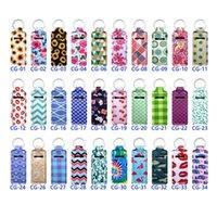 109 Colors Custom Printing Chapstick Holder Keychain Party Favor Portable Neoprene Big Lipstick Holders Keychians For Women Girl Bag Decoration