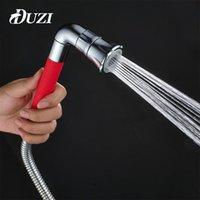 Doccia bagno da bagno Duzi Fashion Red Color Color Doccia Doccia, Head Head Faucet Accessori ABS Plastica Plastica Finitura cromata D102