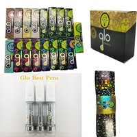 Glo Vape Cartridges Opakowania Vapes-Pen Ceramiczne Koszyk 510 Atomizery gwintowe Jednorazowe Vapory Vapes Zestaw Gruby Atomizer Oil 0.8ML-1.0ml Instock ECIG