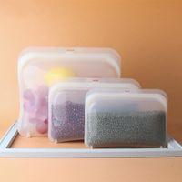 3 шт. Силиконовые сумки Сумки для хранения продуктов питания Сумка для хранения пищевых продуктов питания Сумка силиконовой пищевой сумки Подходит для холодильников, микроволновые печи 20 v2