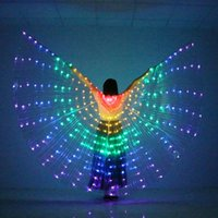 Vientre Light Up Wing Traje LED Dance Alas Arco Iris Colores Etapa Performance Props sin Bolsa de Stick