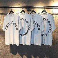 2021 NUEVO NUEVO Impresión de espuma 3D Servicio Domingo Espíritu Santo Camiseta Hombres Mujeres Oversize Casual Streetwear Kanye West T-SHIRTS TOP TEE PBXI