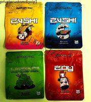 2021 Новый Zushi Mylar Сумка вкуса Трава Цветочная молния Сухой табак Розничная Розничная Зуши Майлар Сумки 3.5G Упаковка Сумки для хранения