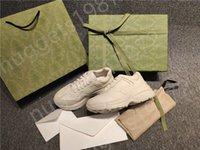 Homens e mulheres sapato casual sneakers de couro genuíno qualidade de alta qualidade lining timeless clássico Ruiton sapatos com toda a fita de embalagem verde
