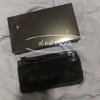 الأزياء الفضفاضة حقيبة ماكياج c رمز الأزياء الفراء جمال التجميل حالة zippcer ماكياج المنظم مع هدية مربع