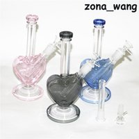 hookahs Recycler bong glass water pipe with thick bowl oil burner rig 14.4mm nectar collector dabber tools