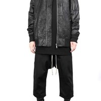 Fashion outlet 21SS Owens grey dark ro wax cloth crackle coating MA1 pilot loose jacket Rick style T2Y6