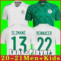 Fan Player Version Algeria 2021 Casa Away Soccer Jerseys Mahrez Feghouli Bennacer Atals 20 21 Algeria Soccer Jersey Men + attrezzata per bambini Abiti da calcio Jersey