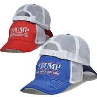 2024 Trump Mesh Béisbol Gorra de Béisbol Sombrero Presidencial Para Mujeres Hombres Cartas Trump Maga Verano Picada Pico Rojo Azul Black Hip Hop Caps G68A5HQ