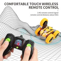 Remote control charging double-sided stunt car 360 rotating, tumbling and twisting resistant to falling light remotes controls cars toy