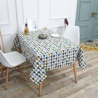 Северная геометрия напечатанная настольная ткань из хлопчатобумажной бельневой домашней столовой украсить Средиземноморский стиль скатерть кандидата