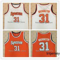100% genäht 30 Billy Owens 31 Dwayne Pearl Washington Syrakus Basketball Jersey Benutzerdefinierte Neinenname Jerseys Herren Frauen Jugend XS-6XL