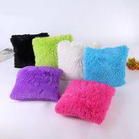 Cushion Decorative Pillow Faux Fur Cushion Cover Solid Soft Fluffy Plush Throw Case Car Home Sofa Decoration Decorative Pillowcase 43x43cm