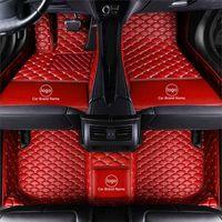 Material de la alfombra de la alfombra de la alfombra de la alfombra de la alfombra de la alfombra de cuero impermeable específica para el modelo de un modelo de automóvil y hacer una sola capas completas rojas 001