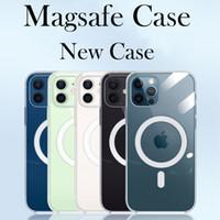 Mgnetic Kılıf iphone 12 MagsaFe Şarj Koruyucu Kılıf iphone 12 Pro Max 12 Mini Kablosuz Şarj Şeffaf İnce Kapak