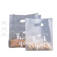 19 * 28 سنتيمتر شكرا لك البلاستيك هدية حقيبة الخبز حقيبة تسوق تخزين مع مقبض حزب الزفاف البلاستيك الحلوى كعكة تغليف أكياس شحن مجاني