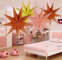 30cm ,45 cm 60 cm Nine Angles Paper Star Home Decoration Tissue Paper Star Lantern Hanging Stars For Christmas Party Decoration FWF10245
