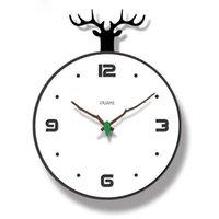 Wall Clocks Nordic Clock Living Room Home Pastoral Personality Creative Fashion Watch Modern Minimalist Bedroom Silent