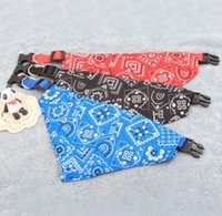 Lovely Adjustable Pet Dog Collar Puppy Cat Triangle Scarf Collars Printed Bandana Neckerchief Pets Accessories Supplies SN5870