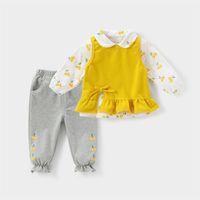Toddler Girls Clothes Sets 3pcs Kids Clothing Spring Autumn Baby Suits Shirt pants Children Set 210729