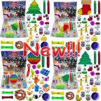 Christmas Fidget Toy Advent Calendar Set December 24 days Push Bubble 24pcs Set Silicone Stress Reliever Sensory Toys