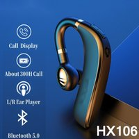 Keyboards Original Lenovo HX106 Bluetooth Earphone Pro Ear Hook Wireless 5.0 Earbud With Microphone 40 Hours For Driving Meeting