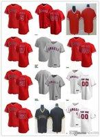 Hombres para mujer Jóvenes 21 Mike Mayers 17 Shohei Ohtani 5 Albert Pujols 62 Jose Quintana Jersey de béisbol personalizado en blanco Gris blanco rojo