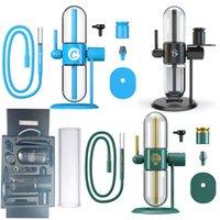 Biscotti StundenGlass Gravity Hookahs Avviatore Kit Kit di Acqua di vetro Tubi per acqua Riciclare Bong Tubo di fumo per Shisha Tabacco Erba essiccata Olio concentrato
