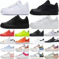 Nike Air Force 1 Low Orta Kapalı Siyah Beyaz Rahat Ayakkabılar Tuval Turuncu Grim Reapers Womens Tasarımcı Eğitmenler Sneakers Spor Yürüyüş Yürüyüş