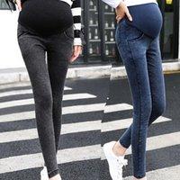 Maternité Grossesse Pantalon Skinny Jeans sur le pantalon Elastic Enceintes Femmes Pieds De Petits Pieds De Jean Ascenseur Pantalon