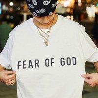 Новый Воздушный страх перед Богом Футболки Туманы негабаритные TEE для мужчин Женщины Бренд Сотрудник Дизайнер футболка Повседневная Джерси Рубашка хип-хоп Уличная одежда
