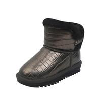 Baby Boots Kids Shoes Girls Boys Short Boot Fur Children Snow Winter Toddler Footwear Infant Wear Warm B8936
