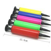 풍선 펌프 손 푸시 미니 플라스틱 인플레이터 공기 펌프 휴대용 유용한 호 일 풍선 장식 도구 W-00693
