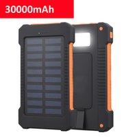 30000mAh Solar Power Power Bank Caricabatterie da cellulare portatile a grande capacità portatile LED Viaggi all'aperto Powerbank per Xiaomi Samsung