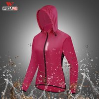 Raincoats WOSAWE Women Windproof Cycling Windbreaker Reflective MTB Bike Summer Outdoor Sport Riding Quick-Dry Jacket