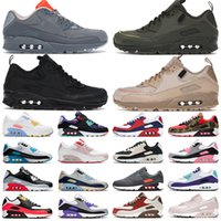 90 New Men Women Sports 운동화 Viotech INFRARED WHEAT SUEDE BE TRUE White-Laser Fuchsia Running shoes 패션 망 Trianers 36-46