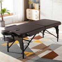 Cama de massagem portátil / PU CASA DE SPA / 84 polegada de comprimento 38 polegadas Wide2 Seção w / Ajustável Mesa de massagem dobrável