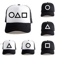 عيد الحبار عيد لعبة شبكة الكرة القبعات المحيطية المنتجات ذات الصلة مثلث دائرة مربع البيسبول قبعة قابل للتعديل snapback صن قناع DWA9344