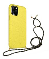 Eco-friendly Silicone Case For iPhone 13 12 11 Pro Max X XS Max XR 8 7 6 Plus Samsung Lanyards Crossbody Necklace Cord Rope Back Cover
