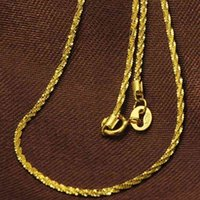 Necklace Pure 18k Yellow Gold Chain Women Luck 1.3mmw Full Star Link Fashion Necklaces 43cm 17inch 2-2.3g 55o5