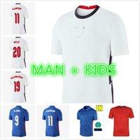 2021 engla-lond Kane Sterling Rashford Soccer Jerseys Euro 21 22 Winkel Vardy Pre-Match Training DELE Lingard Football Hemden Männer + Kinder Sets