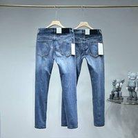 21SS man jeans nya casual designer byxor importerade högkvalitativa tvättade denim stretch tyg andas och bekväma kostymbyxor