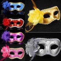 Masas sexy de las mujeres con máscaras de mascarada veneciana con máscara de cuero de flores Máscaras de la fiesta de baile para la fiesta de la fiesta de la fiesta de la fiesta de la fiesta
