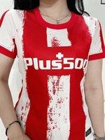 2021 2022 Frauen Madrid Fussball Jersey Home rot # 7 Joao Felix # 9 Suarez # 11 Lemar # 18 Felipe Lady Atletico Soccer Shirts Kurzarm Weibliche Fußballuniformen
