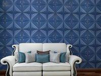 Art3D 50x50cm adesivos de parede azul marinho azul painel de papel de parede pvc flor projeto capa 32 sqft, para decoração interior na sala de estar, quarto, lobby, escritório, shopping center (12 pcs)