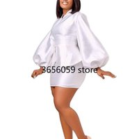 Ethnic Clothing Two Piece Puff Sleeve Tops + Skirt Sets Outfits African Dresses For Women Clothes Vetement Femme 2021 Dashiki Plus Size